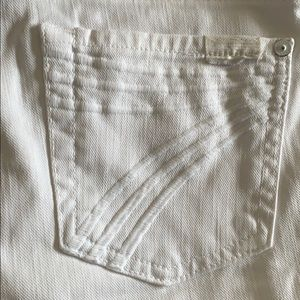 7 for all mankind wide dojo 7 pocket white jeans